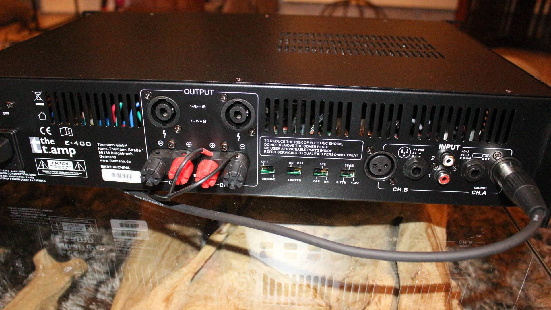 Test Amplis T Amp E 400 Thomann Hifi Stereo Conception Enceinte Audiophile Diy Active