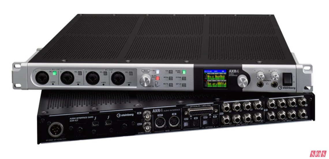 Steinberg's amazingly well-equipped AXR4 interface.