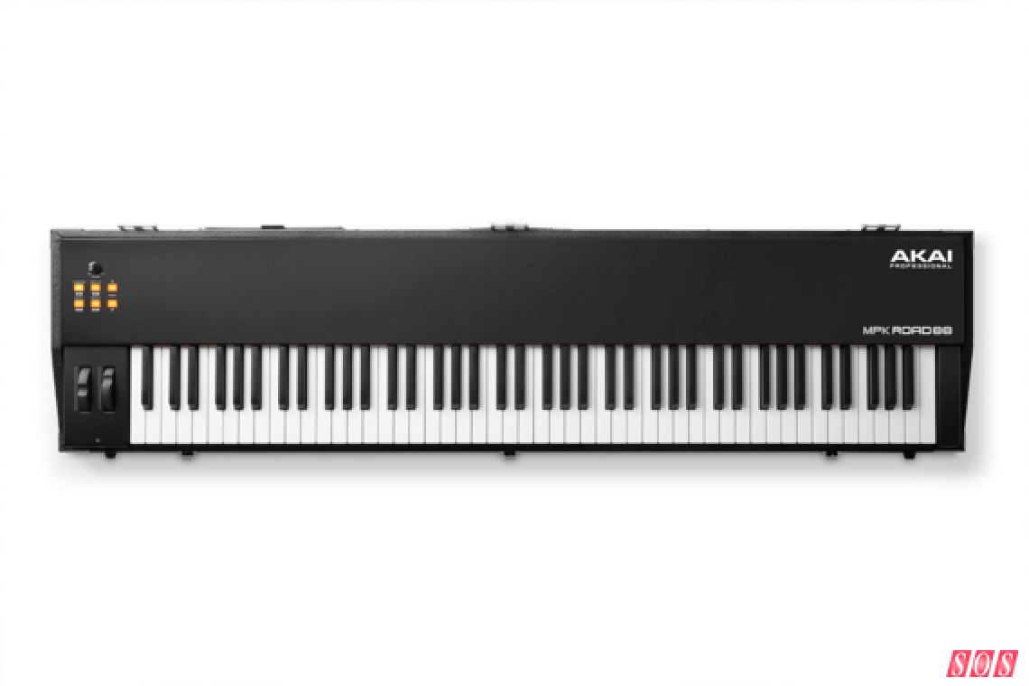 Akai's new MPK Road 88 controller keyboard, designed for on-stage use.