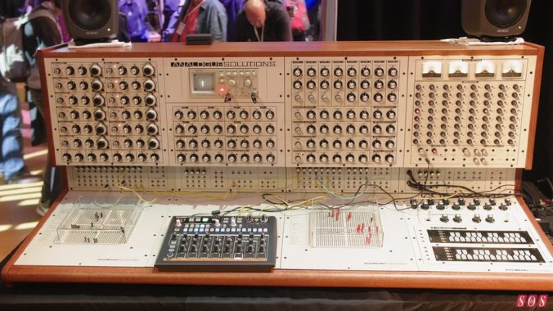 Analogue Solutions' new £30,000 mega-synth, Colossus, at SynthFest UK 2019.