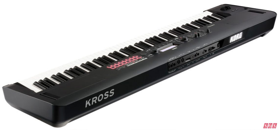 The Korg Kross2 88MB (so-called because of its 88-note weighted keyboard and its new matte-black finish).
