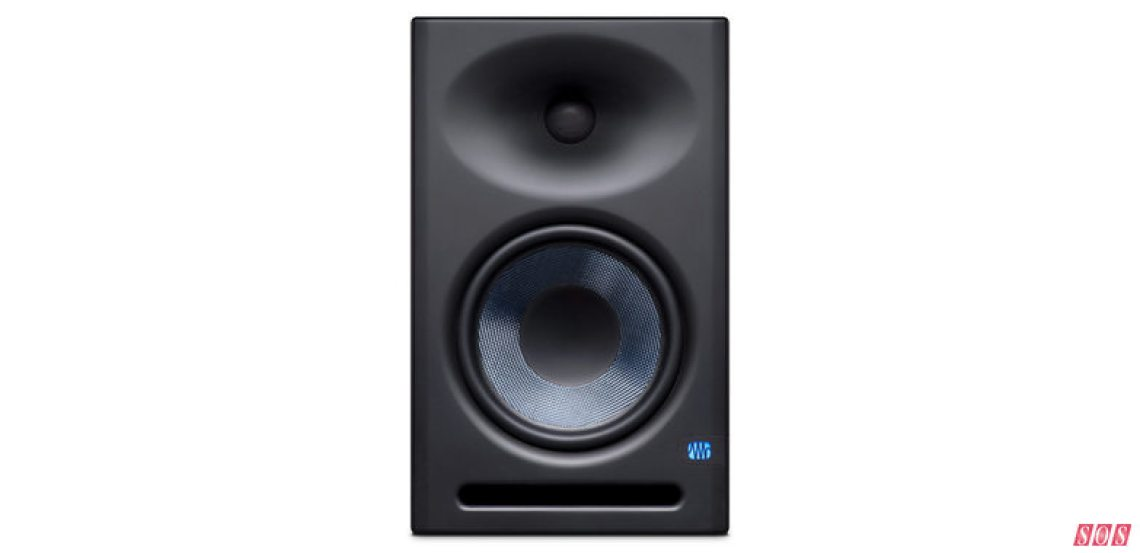 The larger of PreSonus's new upgraded Eris nearfield monitors, the ErisE8XT.