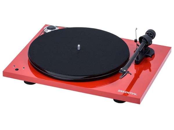 Pro-Ject Essential III RecordMaster è un giradischi rosso
