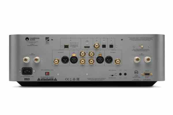 Cambridge Audio Edge A è un amplificatore integrato silver vista posteriore