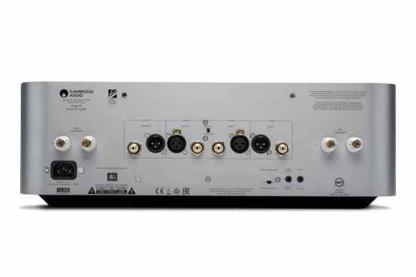Cambridge Audio Edge W è un finale di potenza stereofonico silver vista posteriore
