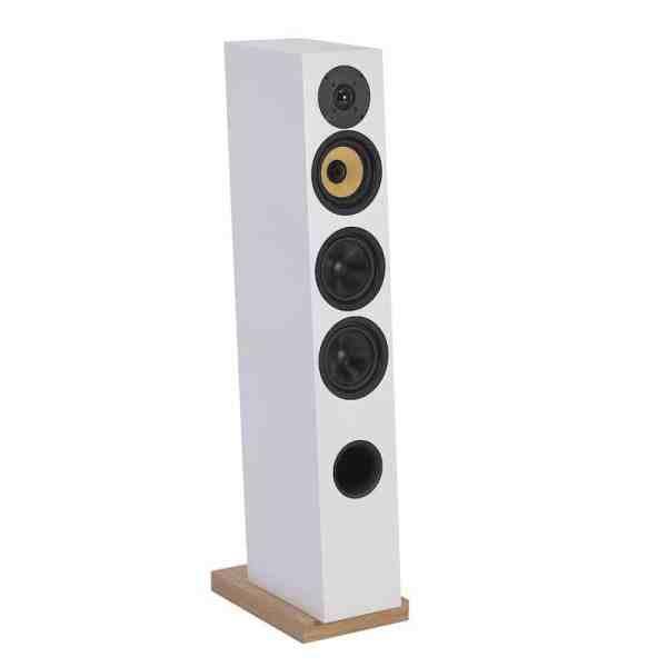 Davis Acoustics Courbet N°5 è un diffusore da pavimento bianco aperto