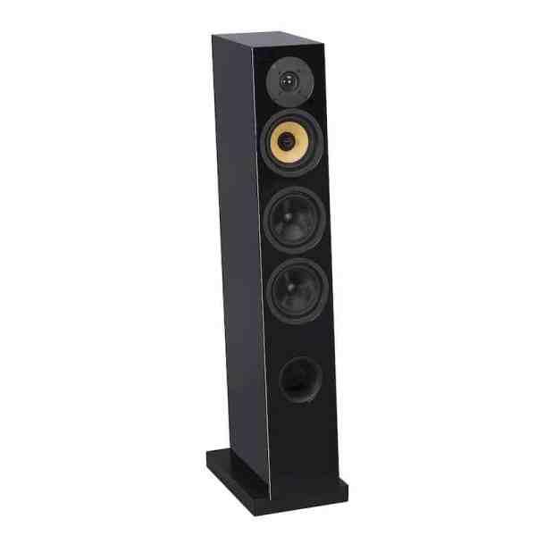 Davis Acoustics Courbet N°5 è un diffusore da pavimento nero aperto