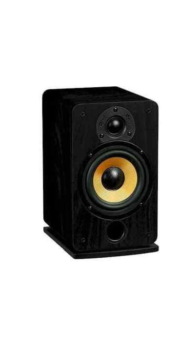 Davis Acoustics Eva è un diffusore da stand nero aperto