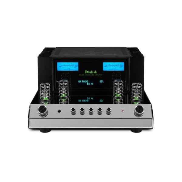 Mcintosh MA352 è un amplificatore integrato nero e cromato fronte