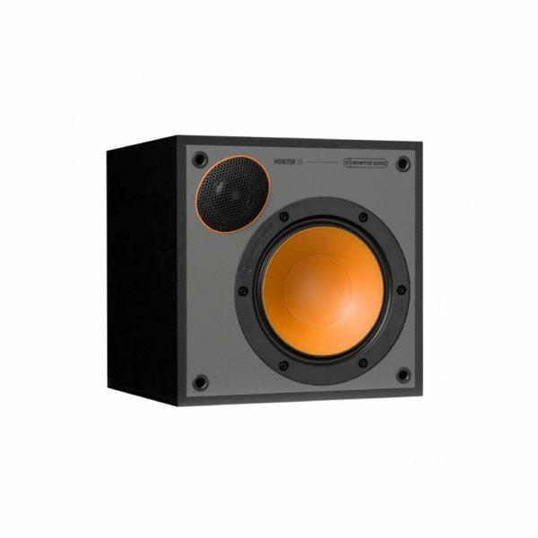 Monitor Audio Monitor 50 è un diffusore da stand nero aperto