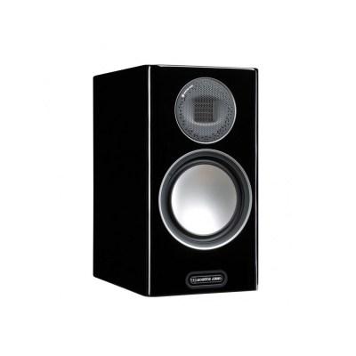 Monitor Audio Gold 100 5G è un diffusore da stand nero laccato aperto