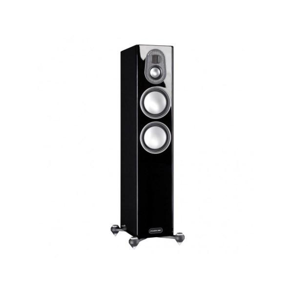 Monitor Audio Gold 200 5G è un diffusore da pavimento nero laccato aperto