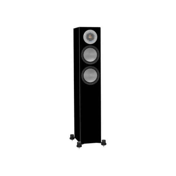 Monitor Audio Silver 200 6G è un diffusore da pavimento nero laccato aperto