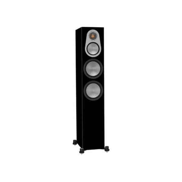 Monitor Audio Silver 300 6G è un diffusore da pavimento nero laccato aperto