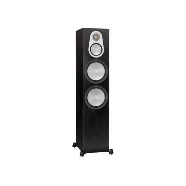 Monitor Audio Silver 500 6G è un diffusore da pavimento nero aperto