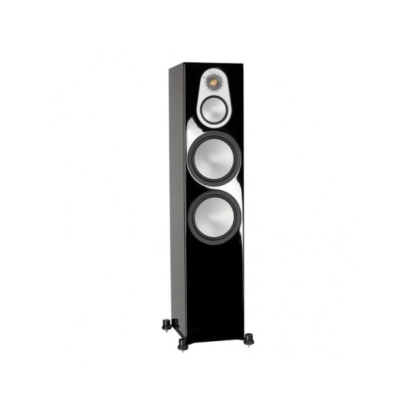 Monitor Audio Silver 500 6G è un diffusore da pavimento nero laccato aperto