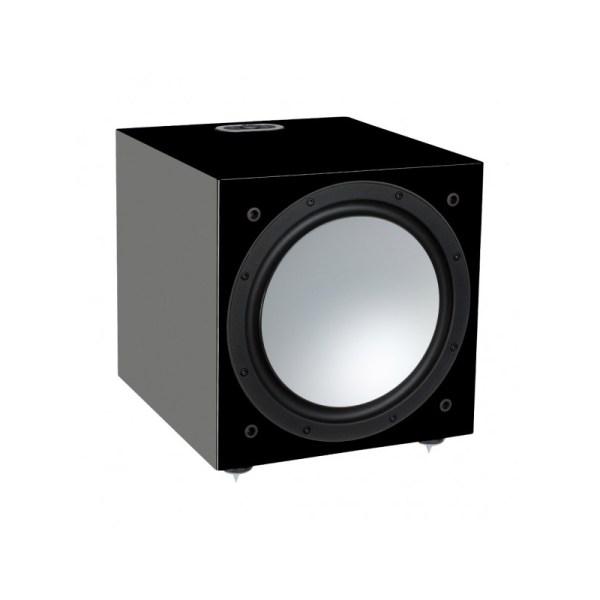Monitor Audio Silver W-12 6G è un subwoofer nero laccato aperto