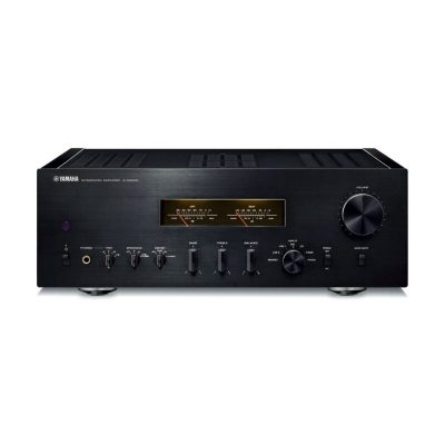 Yamaha A-S2200 è un amplificatore integrato nero fronte