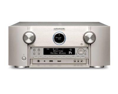Marantz SR7015 è un sintoamplificatore audio/video silver aperto
