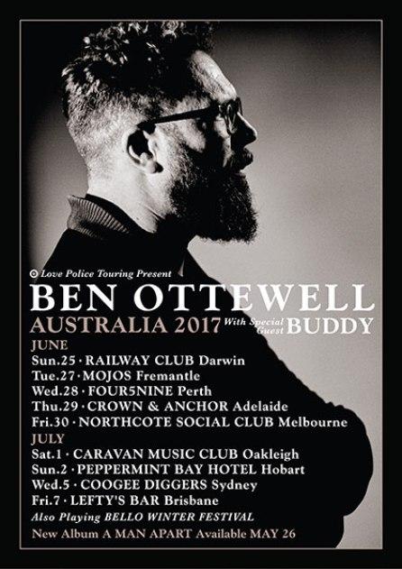 Ben Ottewell Tour Poster
