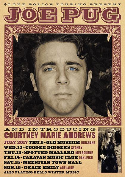 Joe Pug Tour Poster