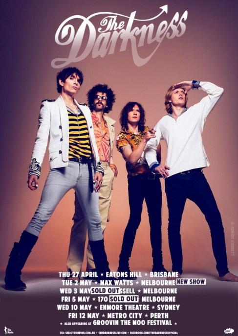 The Darkness Australian Tour Poster 2017