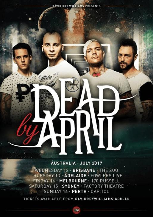 Dead By April Tour Poster