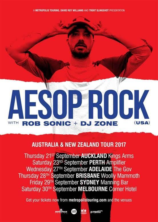 Aesop Rock Tour Poster