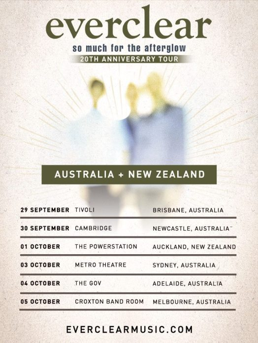 Everclear Australian Tour Poster
