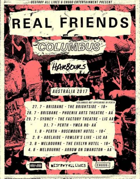 Real Friends Tour Poster