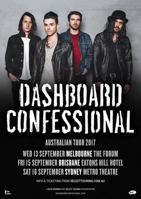 Dashboard Confessional Australian Tour Poster