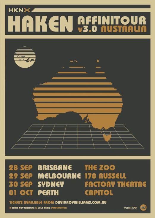 Haken Australian Tour Poster