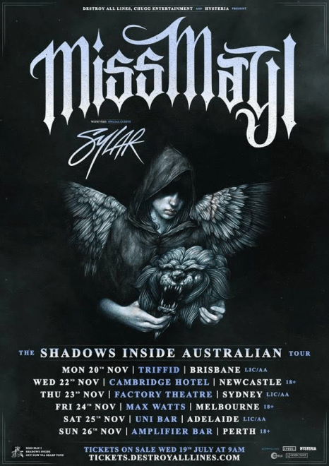 Miss May I Tour Poster