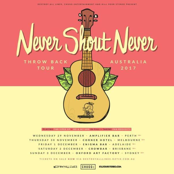 Never Shout Never Australian Tour Poster
