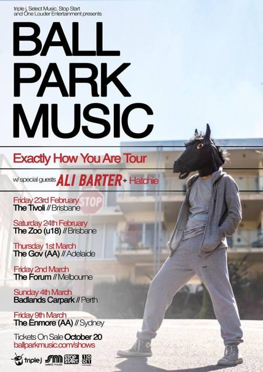 Ballpark Music March Australian Tour Poster