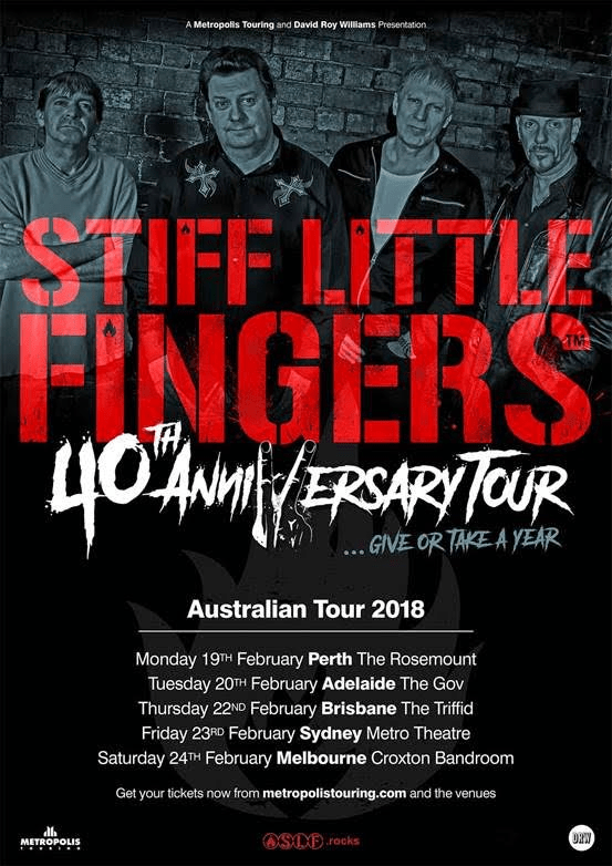 Stiff Little Fingers Tour Poster