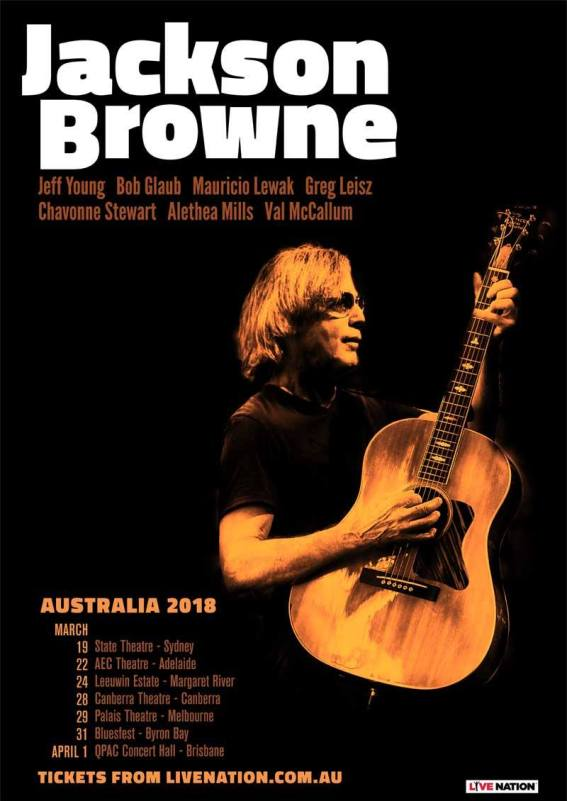 Jackson Browne Tour Poster