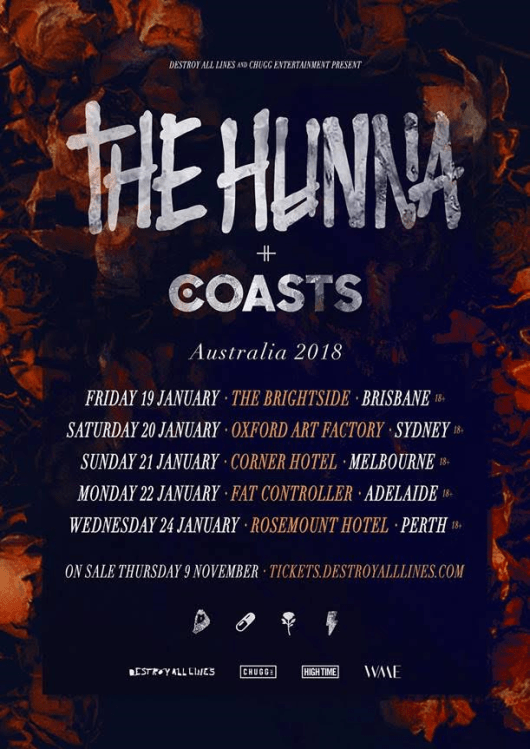 The Hunna Tour Poster