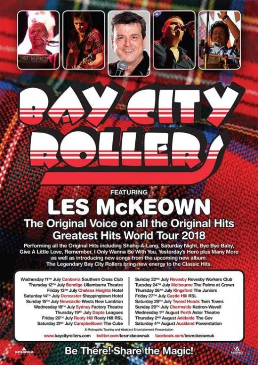Bay City Rollers 2018 Tour Poster