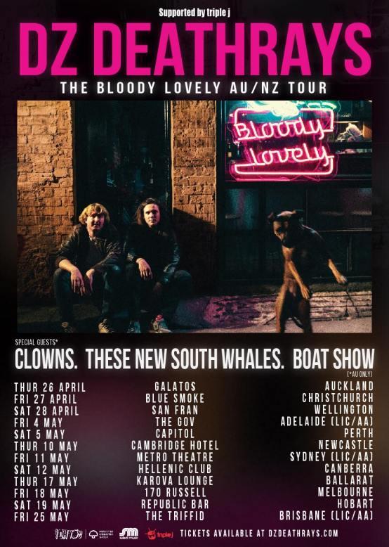 DZ Deathrays Tour Poster