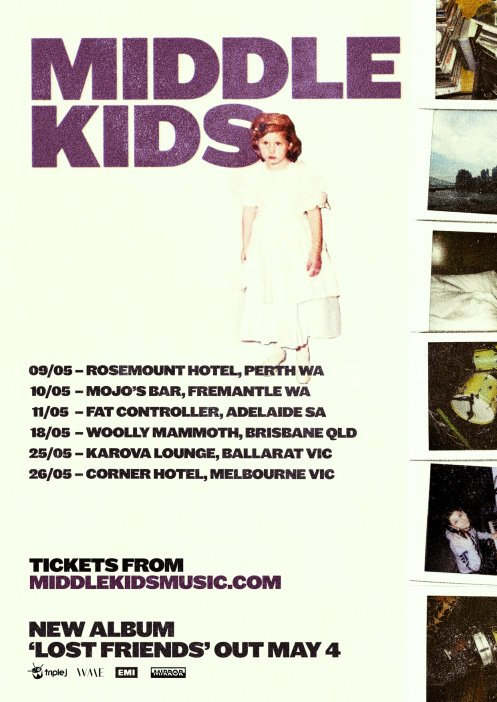 Middle Kids Tour Poster