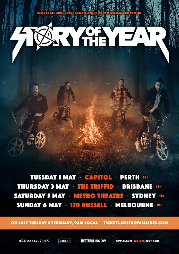 Story Of The Year Tour Poster