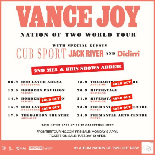 Vance Joy Tour Poster Updated