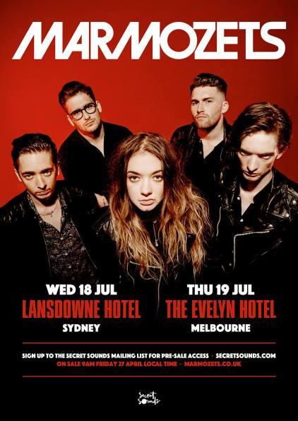 Marmozets Australian Tour Poster