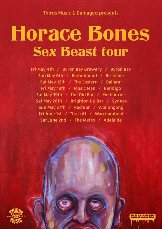 Horace Bones Tour Poster