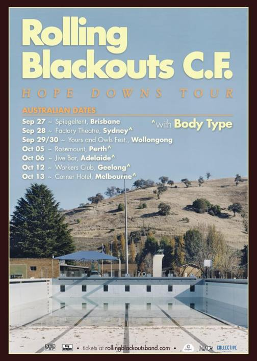 Rolling Blackouts Coast Fever Tour Poster