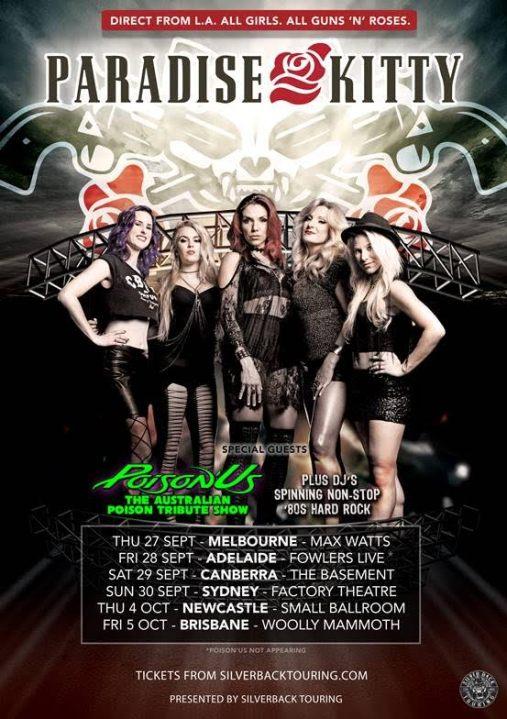 Paradise Kitty Tour Poster