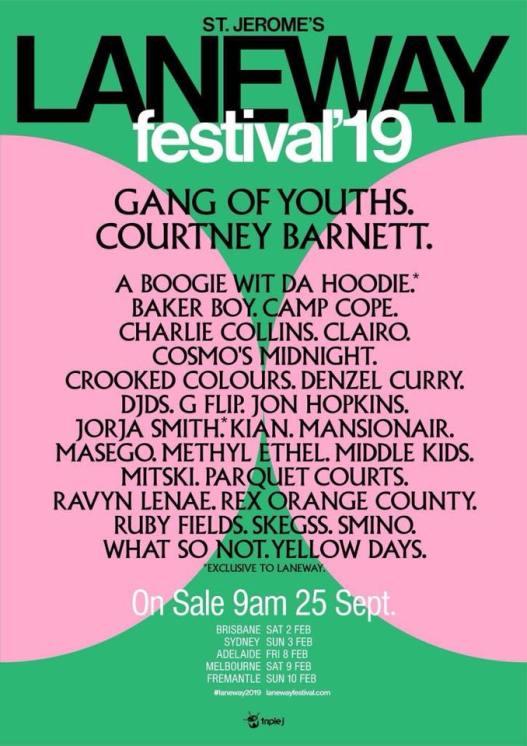 Laneway Festival 2019 Poster