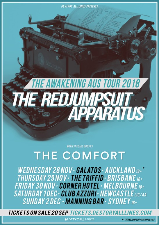 The Red Jumpsuit Apparatus Tour Poster
