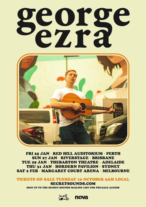 George Ezra Tour Poster